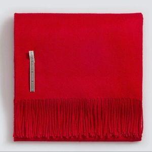 Alicia Adams alpaca throw blanket red new